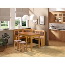 Kuchyňský kout + stůl se židlemi