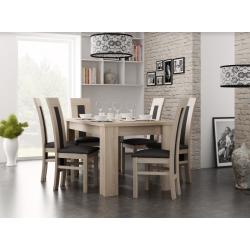 Nadčasový jídelní set 13 (stůl + 6 židlí)