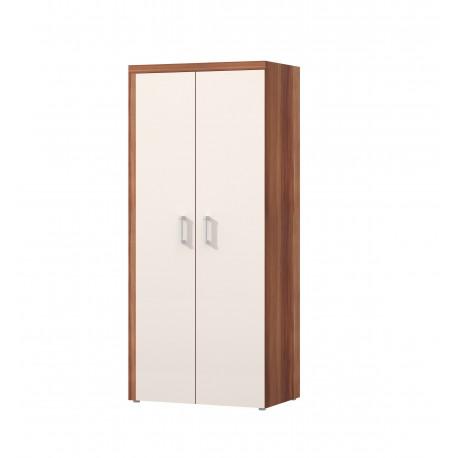 dvoudveřová skříň - švestka / crem