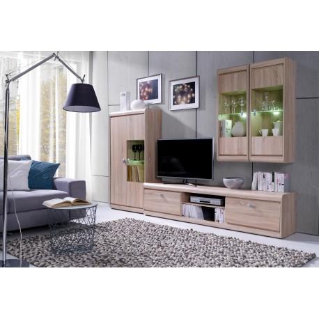 obývací stěna - dub sonoma