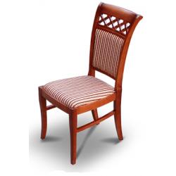 Jídelní židle Pery s mřížkovanou dekorací opěradla