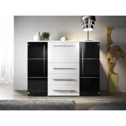 Komoda BARI Black & White
