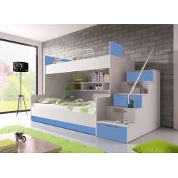 Dětská patrová multifunkční postel Raj 2