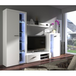 Minimalistická obývací stěna Claudi - bílá