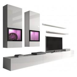 Lesklá obývací stěna Barga