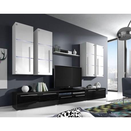 Obývací sestava BARI White & Black